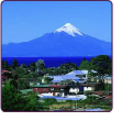The Chilean town of Puerto Varas, amongst beautiful lake and mountain views