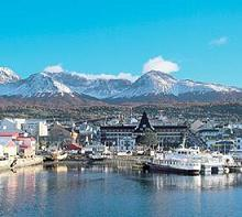 The South-most city of Ushuaia in Tierra del Fuego, Argentina